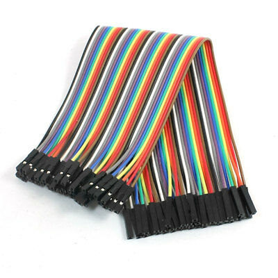 40PCS 21CM Female to Female 1 Pin Jumper Cable Wires Multicolor