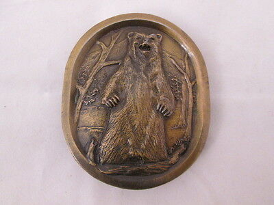 Indiana Metal Craft 1977 Grizzly Bear K97 Belt Buckle