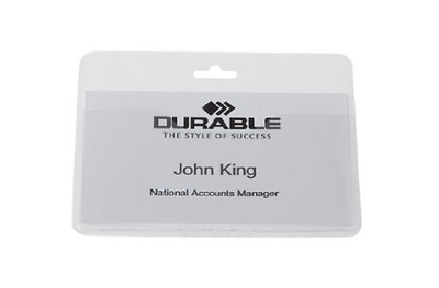 Durable Name Badge without Clip 60x90mm 999108008 (PK50)  AC NEW