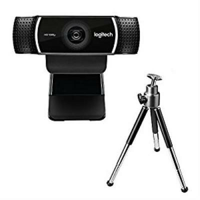 N Logitech C922 Pro Stream Webcam 1080p HD Camera for Streaming Recording 60 FPS