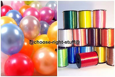 PEARL Metallic Balloons Helium Air Quality Party balloon Curling Ribbions