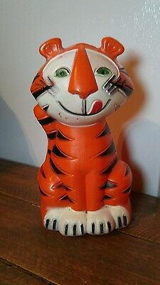 Vintage Kelloggs Tony the Tiger Cereal Advertisement Coin Bank 1968