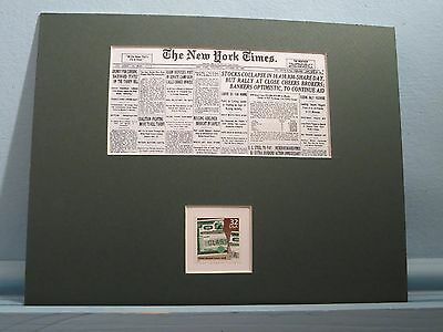 Wall Street - 1929 Stock Market Crash honored by the Stock Market Crash Stamp
