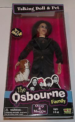 The Osbourne Family Ozzy And Maggie Talking Doll Figure And Pet