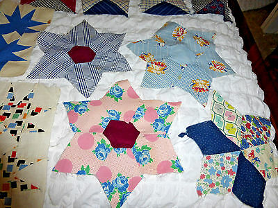 Lot Of 48 Quilt Blocks Assorted Sizes And Patterns Craft Quilt Lot