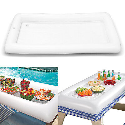 Inflatable Serving Bar Salad Buffet Ice Cooler Picnic Drink Table Party Camping
