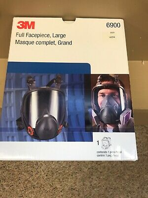 3m Brand New Mask LARGE Size Full Face Respirator 6900 W/3 Packs Of Filters