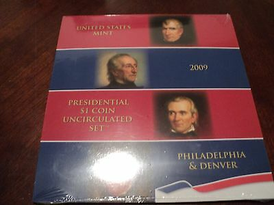 2009 Presidential $1 Coin Uncirculated US Mint Set P & D Sealed