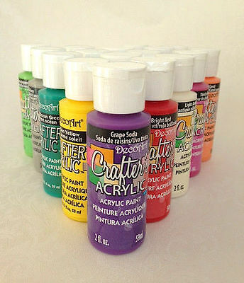2oz Decoart Crafters Acrylic Paint Art Craft Water based Artist New Colours DIY