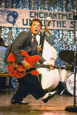 Back To The Future Michael J. Fox On Stage Playing Guitar 11x17 Mini Poster