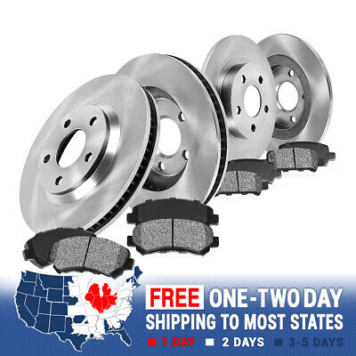 Front and Rear Rotors & Metallic Pads 2000 2001 2002 2003 2004 FORD F150 4X4 4WD