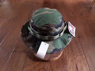 7598b038b75c4 U.s Military Issue Woodland Camouflage Boonie Hat Hot Weather Hat Mfg  Propper