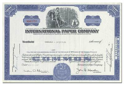 International Paper Company Stock Certificate