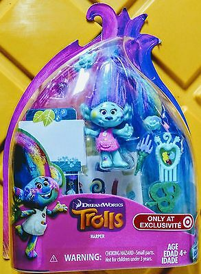 "TROLLS 4"" Harper Target Exclusive Collectible set DREAMWORKS MOVIE fast ship"