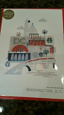 2016 Washington, DC City Starbucks Holiday Card  - New in package