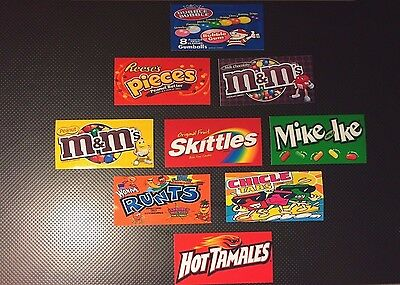 18 VENDSTAR 3000 VENDING MACHINE CANDY STICKERS LABEL  Free Shipping