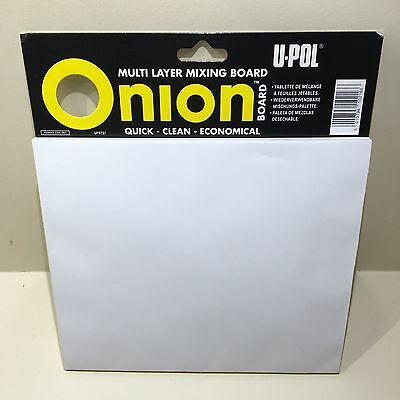 U POL Onion Board UPO737 Filler/Epoxy/Resin/Adhesive Mixing Disposable Sheets