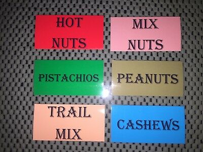 6 VENDSTAR 3000 VENDING MACHINE CANDY STICKERS LABEL  Free Shipping Nut Mixes