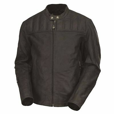 Roland Sands Design Enzo Leather Motorcycle Jacket, Men's Small Coal