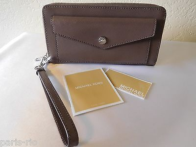 73018762dd76 New Michael Kors Honey Saffiano Leather Front Pocket Travel Continental  Wallet!