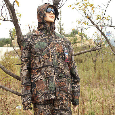 Outdoor Camouflage Hunting Suit Bird Watch Ghillie Suits Rain-proof Jacket&Pants