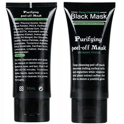 2X Deep Cleansing Black Mask Purifying Peel-off Mask Clean Blackhead Facial MudD