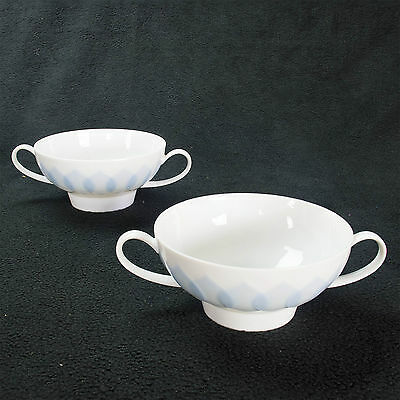 2 x 12cm Rosenthal Continental 'Lotus' Cups Mugs PERFECT CONDITION Antique