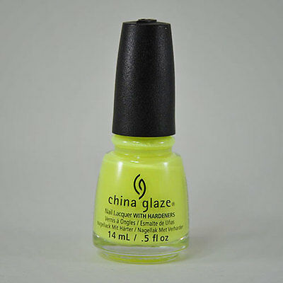 China Glaze Nail Polish Lacquer - YELLOW POLKA DOT BIKINI 0.5 fl oz / 15ml