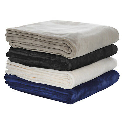 Bianca 350GSM Ultra Soft Velvet Blanket- All Sizes