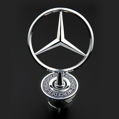 3D Zinc Alloy Car Frond Hood Ornament Emblem for Mercedes Benz C E S W Series