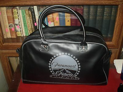 Never Used Vintage Black Leather Paramount Pictures Logo Bag Vhtf