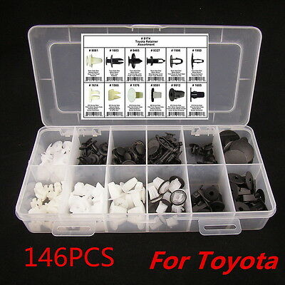 146PCS FENDER DOOR HOOD BUMPER TRIM CLIP BODY RETAINER ASSORTMENT hidtop