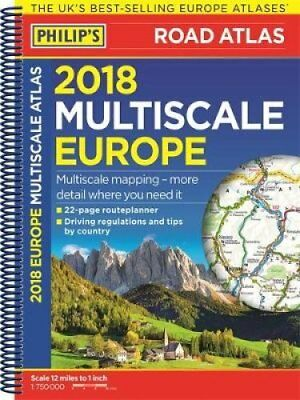 Philip's Multiscale Europe: 2018 by Octopus Publishing Group (Spiral bound,...