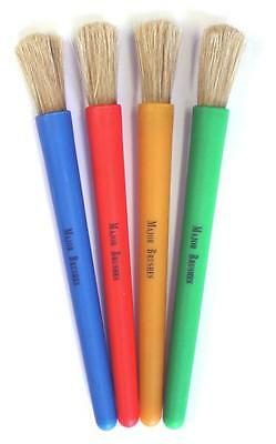 Chubby Brushes - Colourful Toddler Paint Brushes Set of 4 - Home/School/Craft