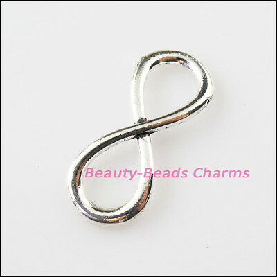 40 Pcs Tibetan silver assorted number charms FC17033