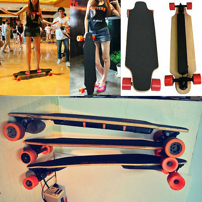 Dual-Drive Electric Longboard Skateboard with Wireless Controller up to 35km/h