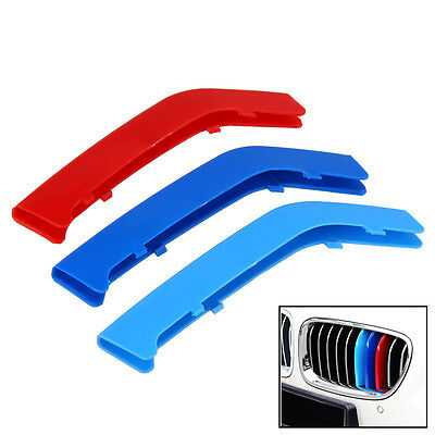 M Color ABS Rene Griglia Bar griglia Cover Decal Strip Clip For BMW 3 Series F30