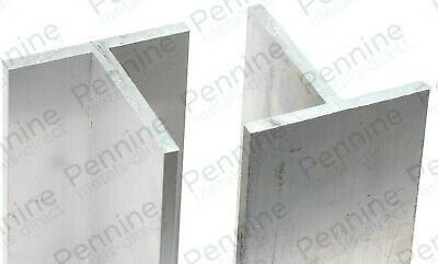 Aluminium T Section Profile - 6 Different Sizes & 10 Lengths Available