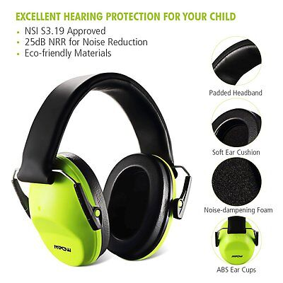 Mpow 25dB Safety Ear Muffs Hearing Protection Ear Defenders for Children Kids