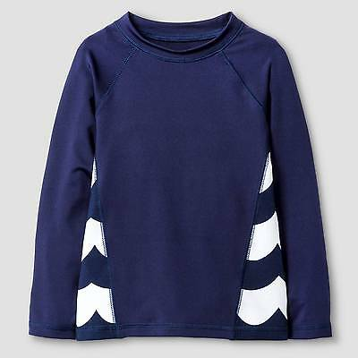 Toddler Boys' Wave Print Long-Sleeve Rash Guard Cat & Jack™ - Navy 4T