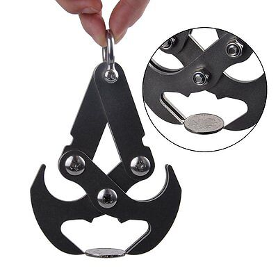 Stainless Steel Magnetic Grappling Hook Folding Climbing Claw Gravity Carabiner