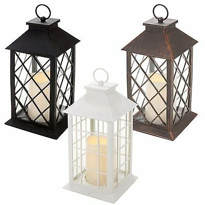 Traditional LED Candle Lantern Light Holder Indoor Outdoor Table Hanging Decor