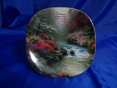 "Vtg Bradford Exchange BRADEX #84-B10-120.4 ""For Thou Art My Lamp"" Thomas Kinkade"