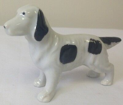 Vintage Porcelain Ceramic Pointer Retriever Hunting Dog Figurine Made Japan *