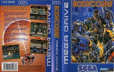 BODYCOUNT Sega Mega Drive PAL Replacement Box Art Case Insert Cover Scan