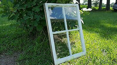 Vintage Sash Antique Wood Window Unique Frame Pinterest Wedding 4 Pane 27 X 19