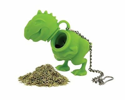 Barbuzzo Dinosaur T-Rex Tea Infuser Party Favor Gift Novelty Green