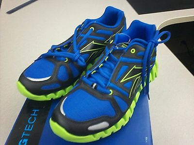 huge discount 144f5 5a4ed Reebok Zigtech Zigdynamic Color Pack Sneakers Blue Black Green Silver Size 6