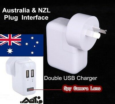 Aussie Real USB Wall Charger Spy Hidden 1080P DVR Motion Detect CCTV Camera 32GB