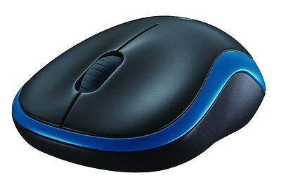 Logitech M185 Blue Wireless Optical Compact Mouse for PC/Laptop or Mac